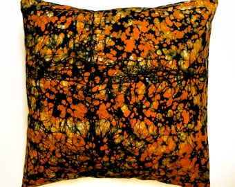 Pillow case 'Orange Marble'