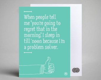 Postcard - Witty Quote: Problem Solver