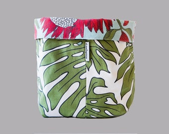 Fabric Bucket - Protea Blue & Delicious Monster Large