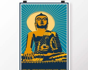 Buddha Vintage Style Poster