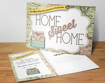 New Home Announcement, Home Sweet Home Postcards, New Address Cards, Set of 25 5x7 Postcards