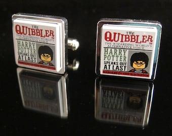 Steampunk Lego® Harry Potter 'The Quibbler' cufflinks