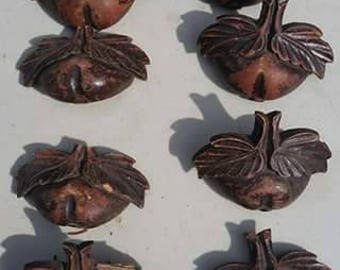 Beautiful Vintage Wooden Drawer Pulls