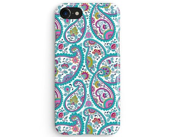 Floral Paisley - iPhone X case, iPhone 8 case, iPhone 8 Plus, iPhone 7 case, Samsung Galaxy Note 8 case 1C014