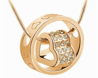Beautifull Crystal Heart Necklace Pendant