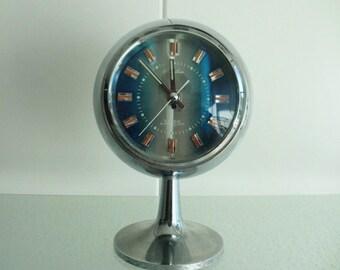 Retro alarm clock '60 '70 chroom vintage mod space age klok