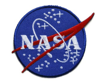 NASA Embroidered Applique Iron on Patch 8 cm. x 7.5 cm.