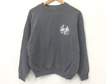 Rare! Vintage 90's KENZO Pullover Embroidery Sweatshirt Dark Grey Color