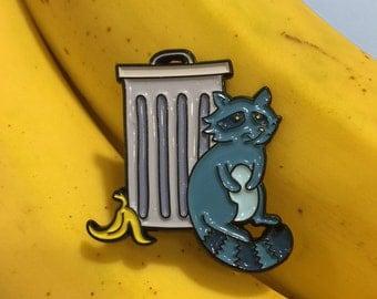 Trash Panda Pin - Raccoon
