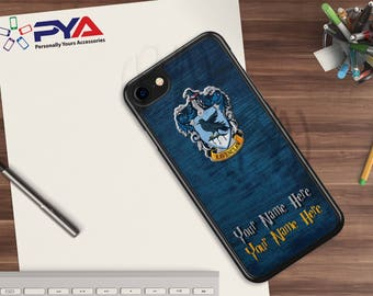 Harry Potter Phone Case - Personalized with a Name Ravenclaw Woodgrain House of Hogwarts for Apple iPhone & iTouch Devices