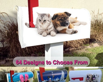 Puppy & Kitten Magnetic Mailbox Cover