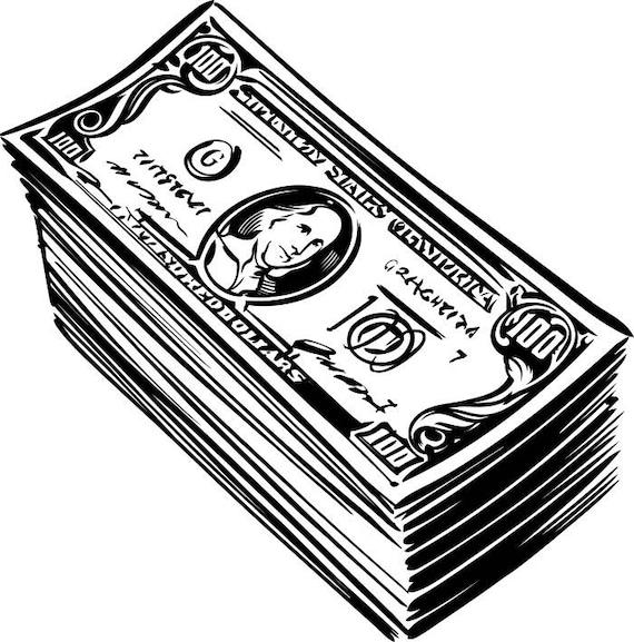 Download Money Cash Stack 100 Dollar Bills Currency.SVG .EPS .PNG ...
