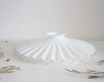 RESERVED LISTING for JACQUES / Vintage French White Milk Glass Ceiling Lampshade