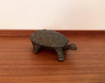 Vintage Brass Turtle Dish, Made in Italy
