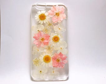 Pressed Flowers phone case,dry flowers case,iPhone 5, 5s,SE case,iPhone 6, 6s,  6+, 6+s case. iphone 7/7+ case, iPhone 8/8+ case, iPhone X