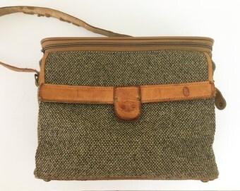 Vintage 80s Hartmann Tweed Carrier Bag