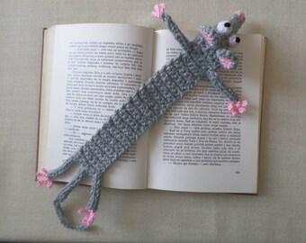 Bookmark, Rat Crochet Bookmark, Gift for Book Lover