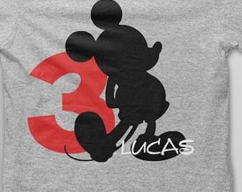 Iron On Mickey Birthday Decal