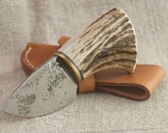 EDC Hand Forged Knife with Sheath High Carbon Steel Skinning knife