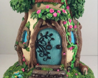 OOAK Fairy House Polymer Clay