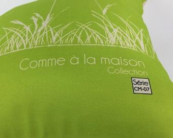 Decorative cushion / pillow / motif natural wheat /coussin washable Saint Jean-sur-Richelieu/Quebec CM - 07