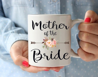 Mother of the bride mug, mother of the bride gift, unique wedding gift, coffee mug gift, coffee lover gift, wedding gift idea, bridal party