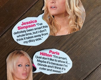 Brainy Blondes Magnet Set - Paris Hilton Inspired - Jessica Simpson Inspired