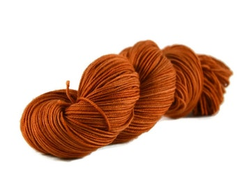 Sport Yarn, Merino yarn, sport weight yarn, superwash wool yarn, 100% Superwash Merino, orange yarn, merino sport - Pumpkin