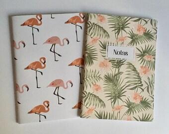 Tropical design A6 notebooks