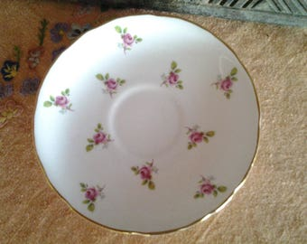 Royal Kent saucer, roses pattern