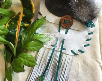 Medicine pouch, Stones, Gems, Herbs, American Indian Style. Price drop