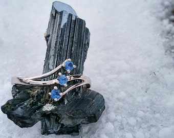 Montana Yogo Sapphires and sterling silver ring, mine direct. Only in size (2) 6.5 and (1) 7.5