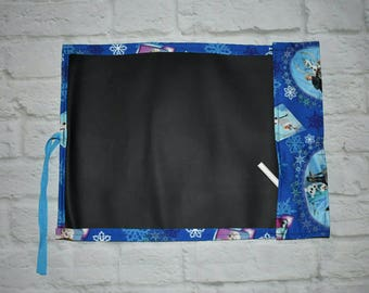 Chalkboard drawing mats, chalk mats, travel chalk mats, frozen, Anna and elsa, disney