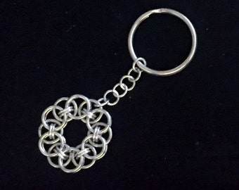 Helm Chain Circle Keyring - (Item K 003)