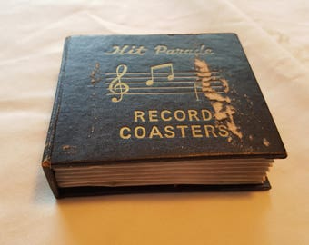 Vintage Hit Parade Record Coasters -