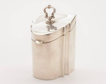 Edwardian Novelty Silver Tea Caddy, Birmingham 1908