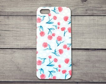 iphone 5 5S SE case, iphone 5 case, iPhone 5S case, iphone SE case, iphone Case, Floral Pattern, bright flower case, phone protector
