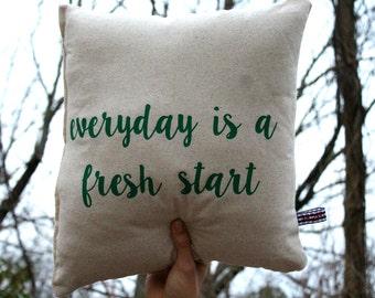 Throw Pillow, dorm pillow, dorm decor Decorative pillow, Housewarming, graduation gift home decor College gift gift farmhouse decor burlap