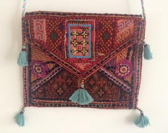 Beautiful vintage Rajasthani clutch, cross body bag, iPad case