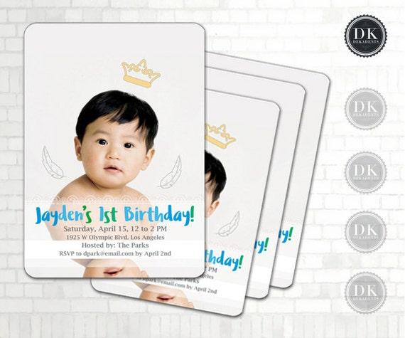 The JAYDEN Party Invitation: Korean First Birthday DOL