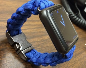 Paracord Apple Watch Band, Cobra Stitch Apple Watch band, 38mm and 42mm for Series 1 & 2
