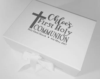 First Holy Communion Personalised Keepsake / Storage Box