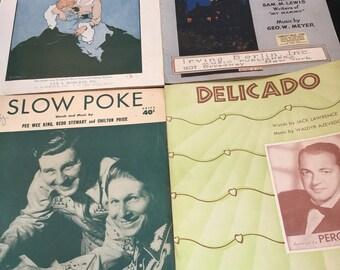 Vintage sheet music Lot of 4 1920-1951