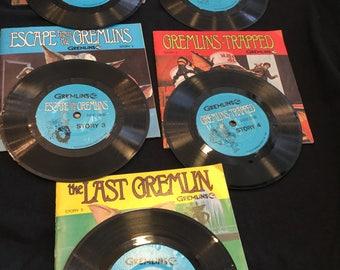 Vintage 1984 Gremlim Read-along Books/Records