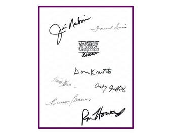 The Andy Griffith Show Signed Script Rpt: Andy Griffith, Don Knotts, Ron Howard Jim Nabors