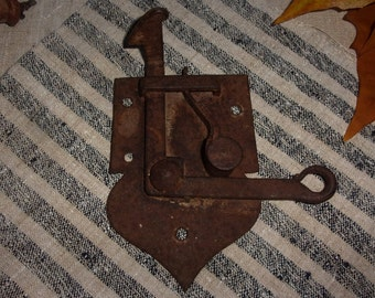 Old door latch 19 eme; or bolt