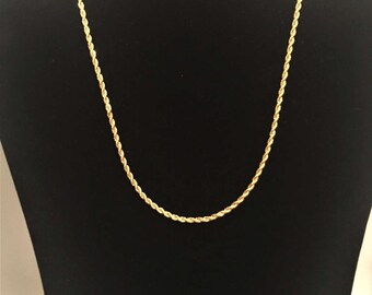 Vintage Gold Tone Trifari Chain, 15 Inch Necklace, Necklaces, Gold Tone Necklace, Vintage Jewelry, Gold Jewelry, Chains, Gifts for Her