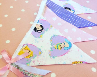 Disney Princess Themed Bunting / Fairytale Bunting / Princess Bunting / Baby Girl / Little Girl decor / childrens bunting /