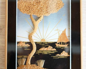 Vintage Cork wall decoration