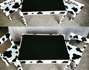 Cow print Table and chair set